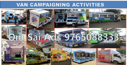 Iron Outdoor Mobile Vans Advertisement Services