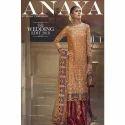 Wedding Wear Chiffon And Banarsi Anaya Designer Suit