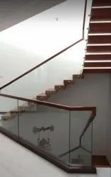 Floating Staircase Glass Handrail