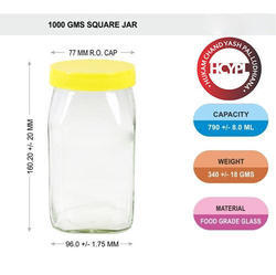 1 kg Square Honey Jar