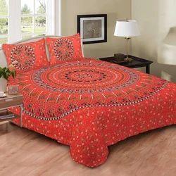 Indian Red Naptol Chammach Print Duvet Doona Cover