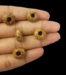 Faceted Mariam Jasper Rondelle 14x8mm Big Hole Beads with 5mm Hole