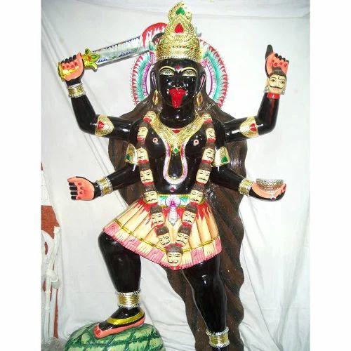 Marble God Maha Kali Statue Black Marble Maha Kali