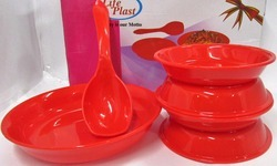 New Year Munch Set ( 1pc Pasta Bowl 4cp Bhalla Plate 1 Laddle)