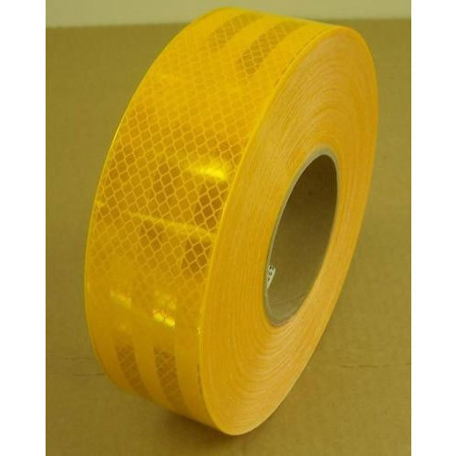 Yellow Plastic 3M Reflective Tape Size 2 Inch