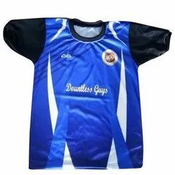 Blue Polyester Kids School Sports T Shirt, Packaging Type: Packet