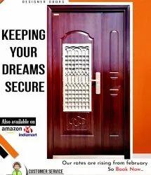 Standard Brown Steel Double Door PGMS ( With Door Frame) 92