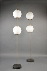 Antique The One Lighting- Frost Ball Floor Lamp for Decorative