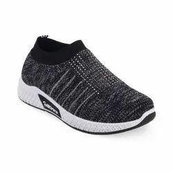 Kids Grey Slip On Shoes
