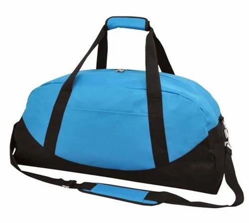 Blue And Black Plain Promotional Gym Bag