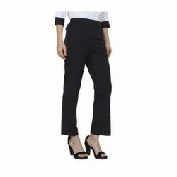 UB-TROU-04 Black Trouser With Stylish Belt For Women