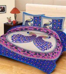 Queen Size Jaipuri Print Bed Sheet