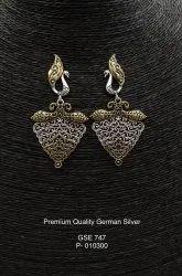 Festive Jewellery - Pictorial Peacock Earrings