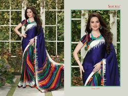 Regular Wear Printed Sarees