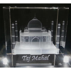 Taj Mahal Crystal Cube