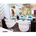 White Salon Chair