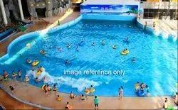 Blue Outdoor Wave Pool, Dimension: 28x80 Feet, 7 Feet