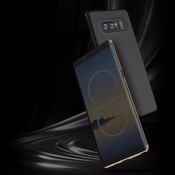 Gold & Black Rock DR V Flip Cover For Samung Note 8 S8 Plus S8