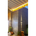 Striped Fordable Awning