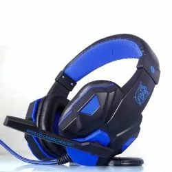Black LED Backlit Wired Gaming Headphones with mic and Unbreakable ABS Body