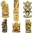 Wooden Ganesha Statue Idol