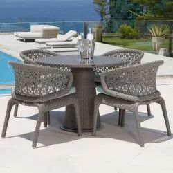 Outdoor Rattan Chair Table Set