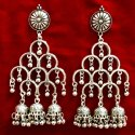Silver Plated Jhumka Dangle Earrings