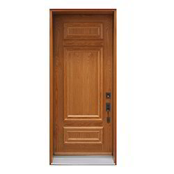 Modern Wooden Finish Stainless Steel Door