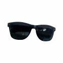 Male Casual Wear Black Wayfarer Sunglasses, Size: Free