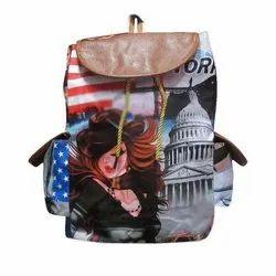 Shoulder Bag Girls Printed College Bag