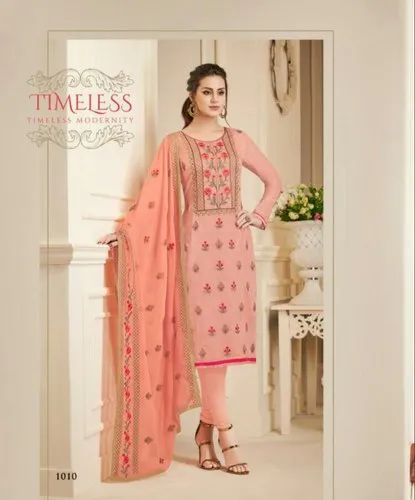 e3db9f14ed79 Silk Semi-Stitched Party Wear Embroidery Salwar Suit, Size: Free Size