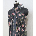 Polyester Printed Beach Sarong with Fringes