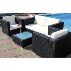 Modern Patio Wicker Sofa Set