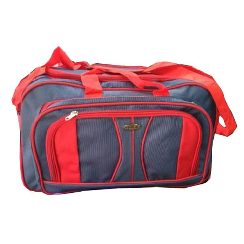 65e953209a84 Red And Blue Cotton Fabric Fashionable Travel Bag