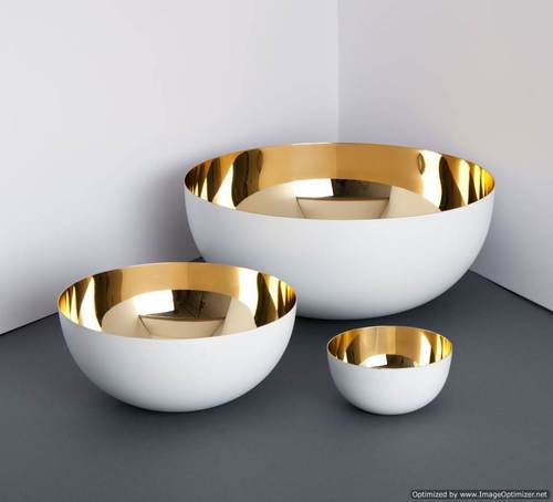 ARC Export Metal Bowl, Size: 22 X 22 X 3 cm