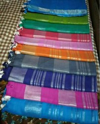 Cotton slub saree