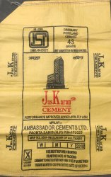 JasKaran OPC 43 Grade Cement, Packaging Type: PP Sack Bag, Packing Size: 50 Kg