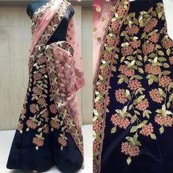 Net Embroidered Bridal Lehenga