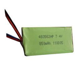 Lithium Ion Polymer Battery, 7.4 V, Battery Capacity: 850 Mah