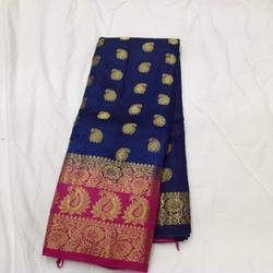 Party Wear WEAVED Ballaton Butta Rich Pallu, Construction Type: Machine, 6.3 m (with blouse piece)