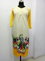 printed designer kurti