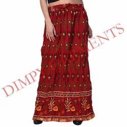 fac051dbdb5 Women Cotton Maroon Printed Skirt