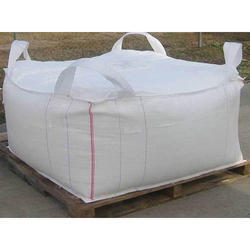 1 Ton FIBC Bag Double Warps Fabric Crossing Corner Loops