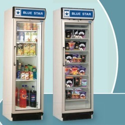 Blue Star Glass Door Refrigerator For Commercial Single