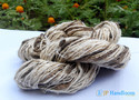 White/brown Mix Unique Texture Organic Silk Yarn, For Knitting/crotchating