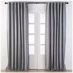 Plain Polyester Curtain, Size: 8 To 12 Feet (height)
