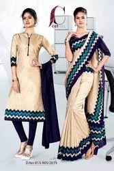 Uniform Sarees And Salwar Kameez Combo For Staff