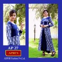 Indo Western Printed Rayon 2part Gown