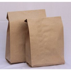 Food Grade Brown Paper Pouch, Capacity: 1 to 2 Kg