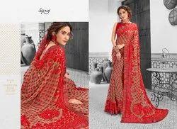 Ethnic Stylish Designer Embroidery Saree